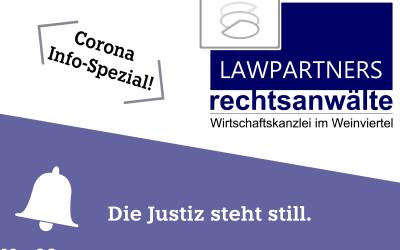 CORONA-INFO-SPEZIAL – Die Justiz steht still