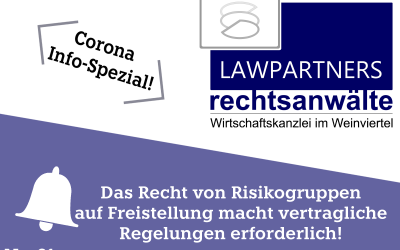 CORONA-INFO-SPEZIAL – Das Recht von Risikogruppen auf Freistellung macht vertragliche Regelungen erforderlich!